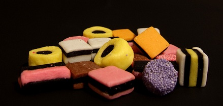 Liquorice in sweet form